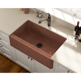 "Polaris 33"" Single Bowl Copper Farmhouse Sink P325"