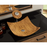 "Bamboo Vessel Sink, 16 1/8"", Square, Polaris, P298 - Showroom Sinks"