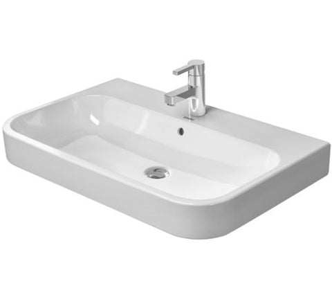 "Happy D.2 Furniture Washbasin 25-5/8"" Wall-mounted Bathroom Sink, Duravit, 231865"
