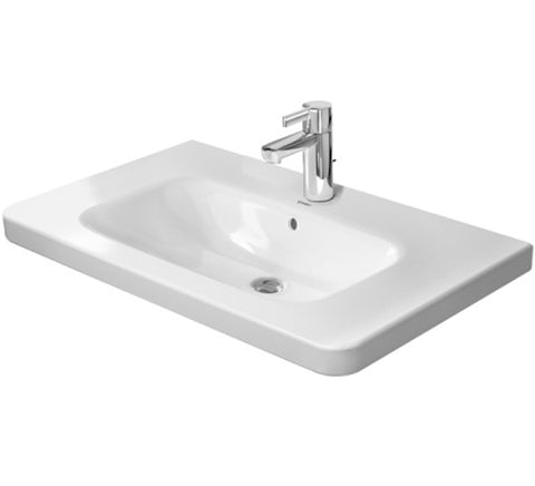 "DuraStyle Series Furniture Washbasin 31-1/2"" With Overflow and Tap Punched Hole for faucet, Wall-mounted Bathroom Sinks"