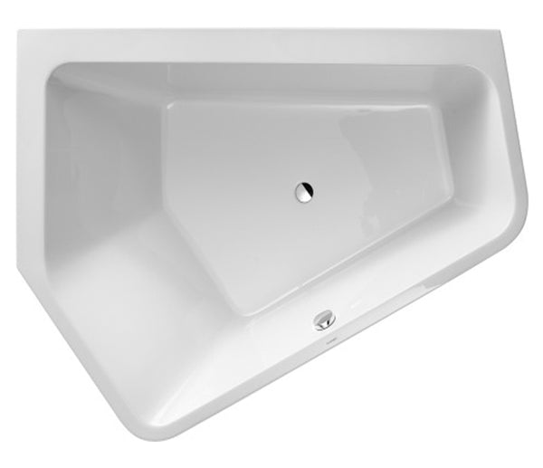 Paiova Bathtub Paiova 5 with Seamless Acrylic Panel and Support Frame, 2 Backrest Slopes, Duravit, 700396