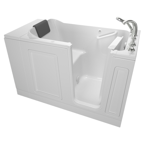 American Standard Acrylic Luxury Series 30x51-inch Walk-In Bathtub with Air Spa System - Right Door/Drain with Tub Faucet, 3051.119.AR