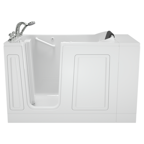 American Standard Acrylic Luxury Series 30x51-inch Walk-In Bathtub with Whirlpool Massage System - Left Door/Drain with Tub Faucet, 3051.119.WL