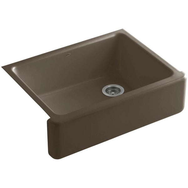 "Kohler K-6487 Whitehaven,  30"" Cast Iron Farmhouse Sink, Single Bowl, Self-Trimming, Under-Mount, With Tall Apron"