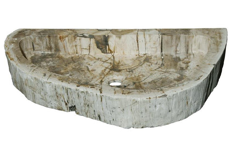 "Bathroom Vessel Sink, 28.5"" Petrified Wood, Allstone Group, PEWD-#4-1 - Showroom Sinks"