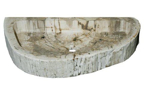 "Bathroom Vessel Sink, 28.5"" Petrified Wood, Allstone Group, PEWD-#4-2 - Showroom Sinks"