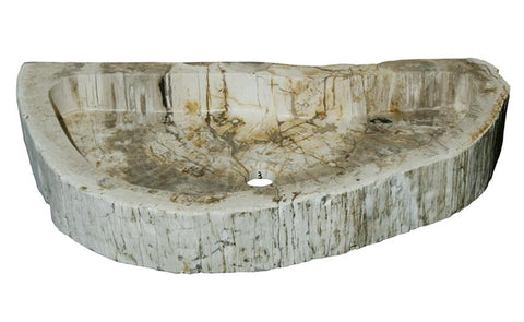 "Bathroom Vessel Sink, 28.5"" Petrified Wood, Allstone Group, PEWD-#4-3 - Showroom Sinks"