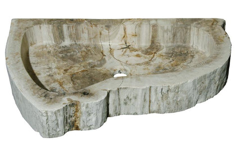 "Bathroom Vessel Sink, 25.5"" Petrified Wood, Allstone Group, PEWD-#4-6 - Showroom Sinks"