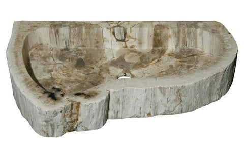 "Bathroom Vessel Sink, 26"" Petrified Wood, Allstone Group, PEWD-#4-7 - Showroom Sinks"