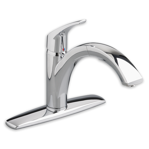 American Standard Arch Single Handle Pull Out Kitchen Faucet, 4101.100