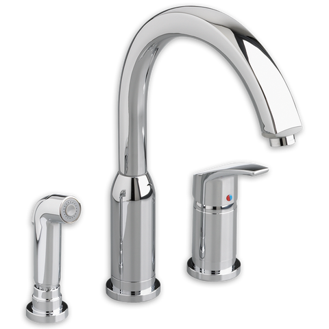 American Standard Arch Single Handle High Arc Kitchen Faucet with Side Spray, 4101.301 - Showroom Sinks