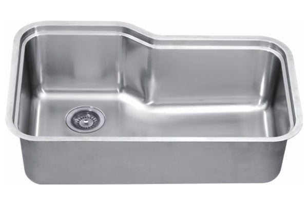 "Dawn 26-1/2"" Stainless Steel Undermount Kitchen Sink, Single Bowl, SRU251610"