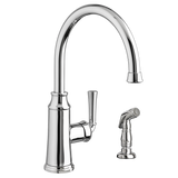 "American Standard Portsmouth 14-1/2"" 1-Handle High-Arc Kitchen Faucet with Side Spray, 4285.051 - Showroom Sinks"