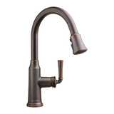 American Standard Portsmouth 1-Handle Pull-Down High-Arc Kitchen Faucet, 4285.300 - Showroom Sinks