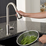 American Standard Pekoe 1-Handle Pull Down High-Arc Kitchen Faucet, 4332.300