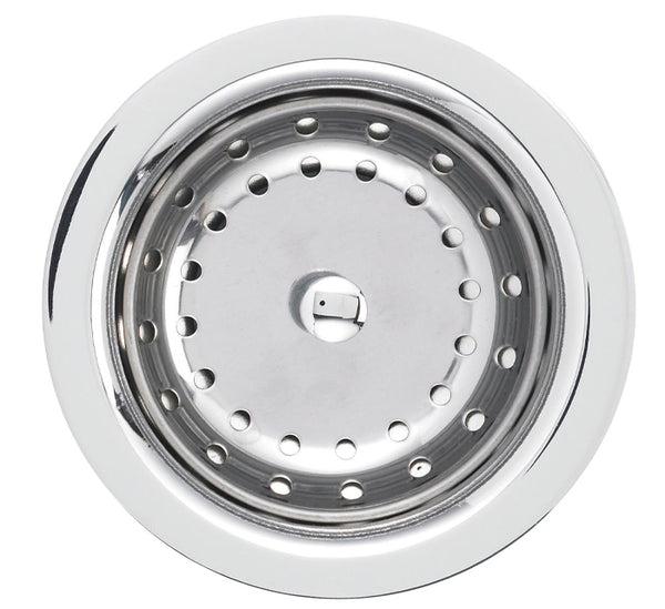 "Blanco Strainer And Drain Cover 3-1/2"", Deluxe Steel Strainer, Chrome, 440029"
