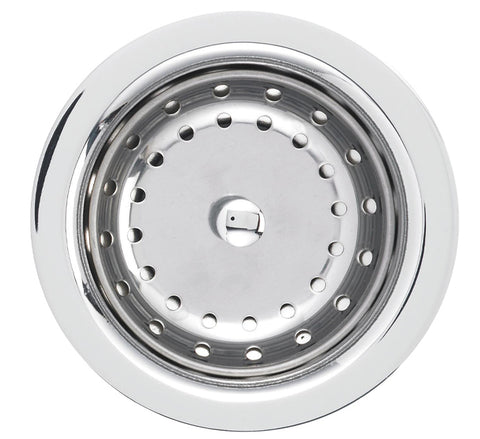 "Blanco Strainer And Drain Cover 3-1/2"", Deluxe Steel Strainer, Chrome, 440029 - Showroom Sinks"