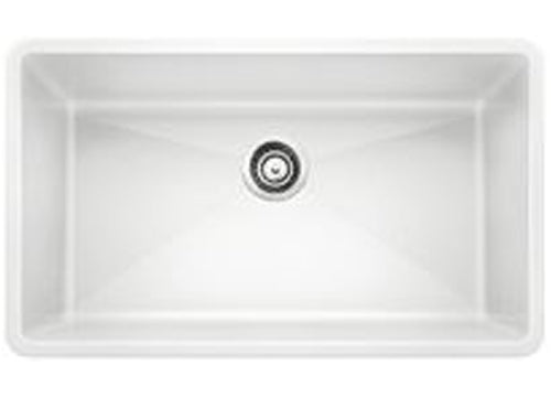 "Blanco Precis 32"", Undermount, Super Single Bowl Granite composite Kitchen sink in SILGRANIT PuraDur"