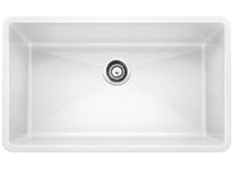 "Blanco Precis 32"", Undermount, Single Bowl Granite Composite Sink in Silgranit PuraDur - Showroom Sinks"