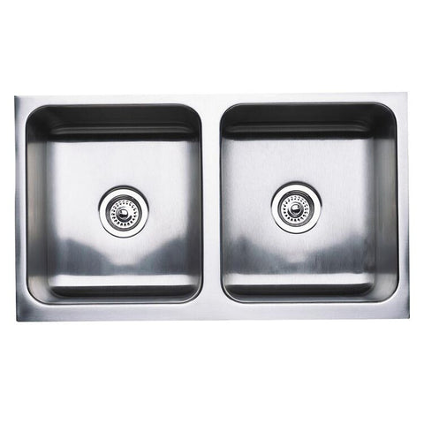 "Blanco Magnum 32"" Equal Double Bowl Stainless Steel Sink with Apron, 440286 - Showroom Sinks"
