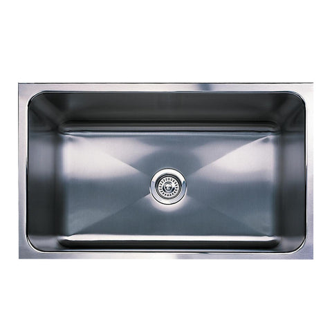 "Blanco Magnum 30"" Large Single Bowl Stainless Steel Sink with Apron-front, Undermount, 440296 - Showroom Sinks"