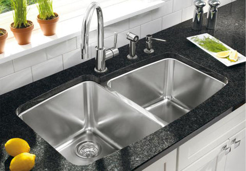 "Blanco Performa Stainless Steel Undermount Sink, 33-1/8"", Medium 1-3/4 Bowl, 441002 - Showroom Sinks"