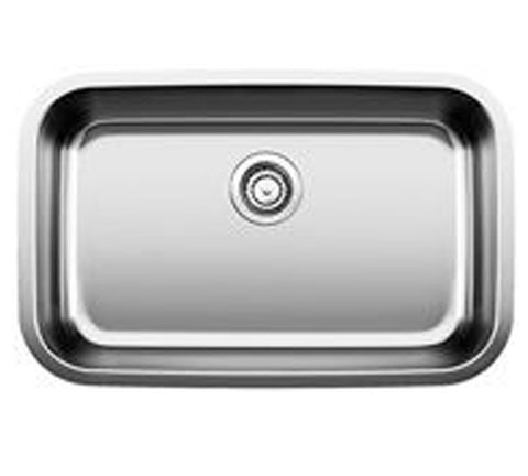 "Blanco Stellar 28"" x 18""  Single Bowl Stainless Steel Kitchen Sink, Undermount, 441024 - Showroom Sinks"