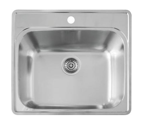 "Blanco Essential™ 25"" Drop-In Laundry Sink, Single Bowl, Stainless Steel, 441078 - Showroom Sinks"