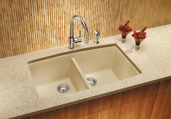 Blanco Diamond 32 Quot Undermount Equal Double Bowl Granite
