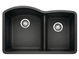 "Blanco Diamond 32"", Low-Divide Undermount Granite composite sink, 1-3/4 Bowl, Silgranit PuraDur - Showroom Sinks"