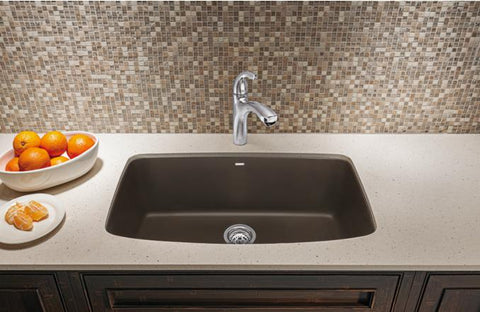 "Blanco Valea 32-1/4"" Undermount Single Bowl Granite Composite Sink in Silgranit PuraDur - Showroom Sinks"