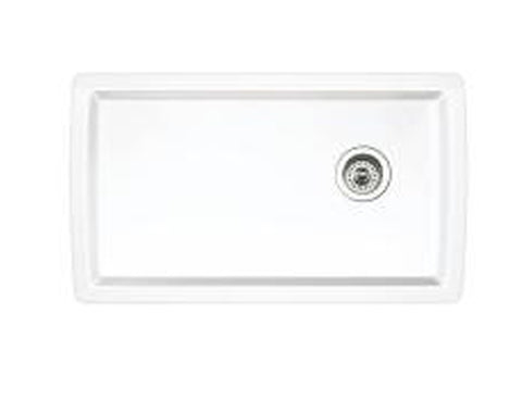 "Blanco Diamond 33-1/2"" Super Single Bowl, Undermount, Granite Composite Kitchen Sink in SILGRANIT PuraDur - Showroom Sinks"