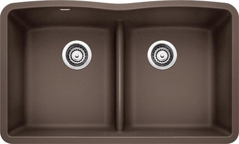 Blanco Diamond, Undermount Granite Composite Kitchen Sink, Equal Double Bowl With Low-Divide, Silgranit PuraDur