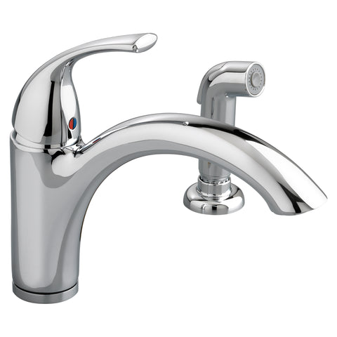 American Standard Quince 1-Handle Kitchen Faucet with Side Spray, 4433.001