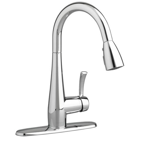 American Standard Quince 1-Handle Pull Down High-Arc Kitchen Faucet, 4433.300