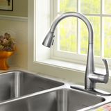 American Standard Quince 1-Handle Pull Down High-Arc Kitchen Faucet, 4433.300 - Showroom Sinks