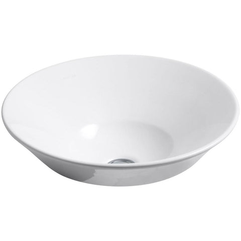 "Kohler Conical Bell 16"" Vessel or Wall-Mount Bathroom Sink - White K-2200-0"