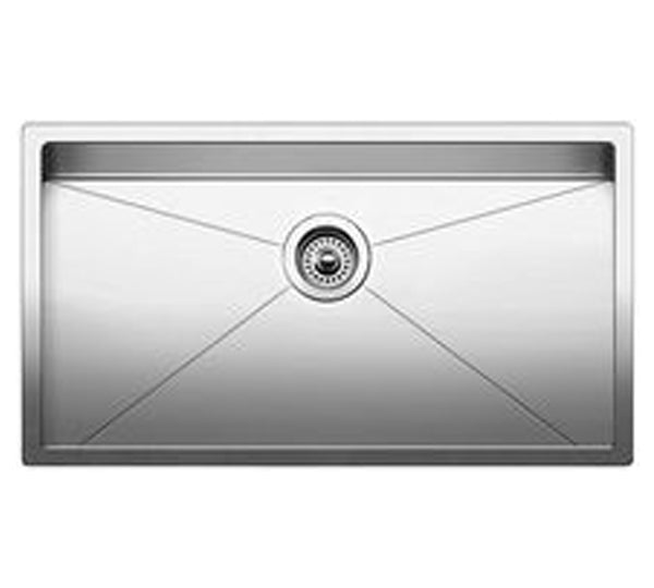 "Blanco Precision™ 16"" R10 Single Stainless Steel Sink, Undermount, 515823 - Showroom Sinks"