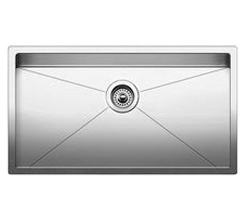 "Blanco Precision™ 16"" R10 Super Single Stainless Steel Sink, Undermount, 515823"