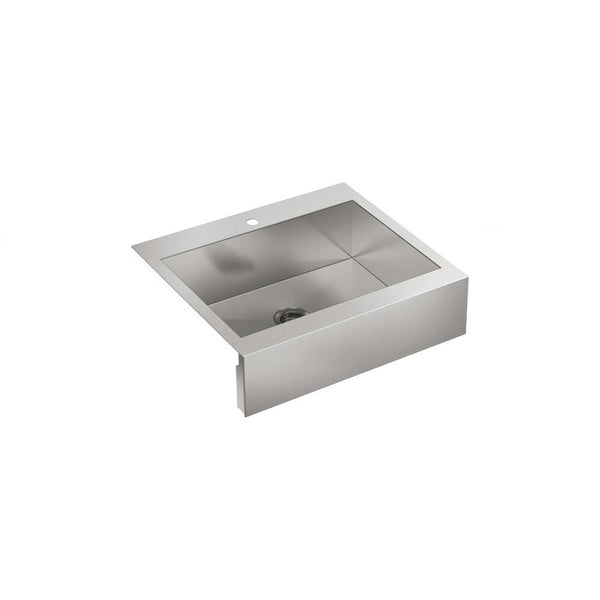"Kohler Vault 30"" Top-Mount Single-Bowl Stainless Steel Kitchen Sink With Tall Apron K-3935-1-NA"