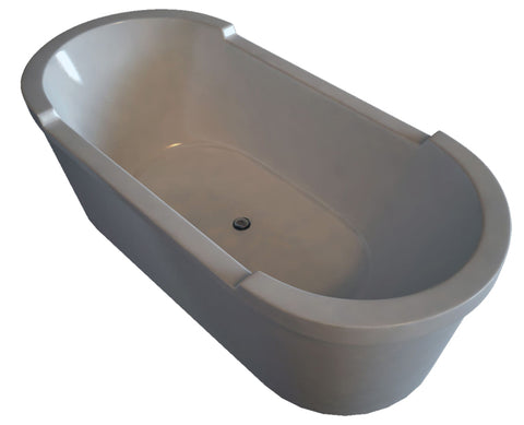 "Starck Series Freestanding Oval Acrylic Panel and support frame Tubs/Shower trays Bathtub 18-1/8"" with Two Backrest Slopes, Duravit, 700012"