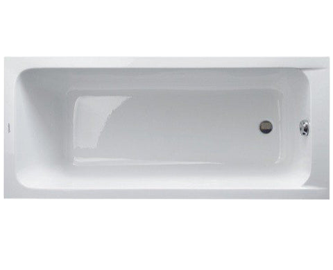 D-Code Series Rectangular Acrylic Drop-In Bathtub, Outlet in foot area, Duravit, 700095