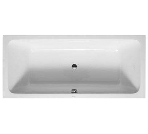 D-Code Rectangle Bathtub with 2 Built-In Backrest Slopes with Central Outlet, Duravit, 700101