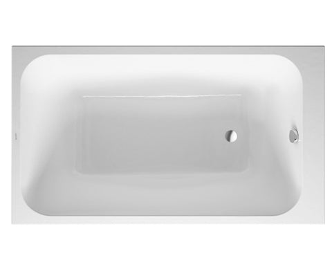 "DuraStyle Series, 22"" Depth Rectangular Acrylic Drop-In or for Panel Bathtub, Duravit, 700233"