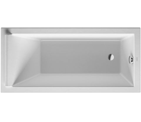 "Duravit Starck Tubs/Shower trays Bathtub 18-7/8"" with one Backrest Slope, Drop-in or for Panel Bathtubs, Rectangle, 700331"