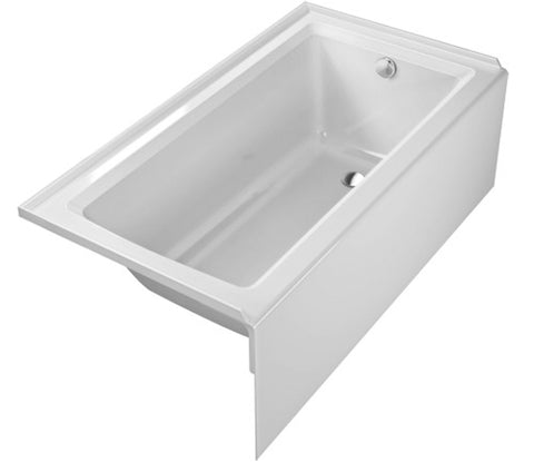 "Architec Bathtub 19 1/4"", with integrated panel and flange, Right drain placement, Acrylic Bathroom Bathtubs, 700353"