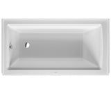 "Architec Bathtub, 19 1/4"" with Integrated Panel and Flange, Rectangle, Drain Left placement, Duravit, 700354 - Showroom Sinks"
