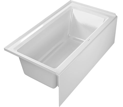 "Architec Bathtub, 19 1/4"" with Integrated Panel and Flange, Rectangle, Drain Left placement, Duravit, 700354"