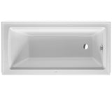 "Architec Bathtub, 19 1/4"" with Integrated Panel and Flange, Rectangle, Drain Right Placement, Duravit, 700355"