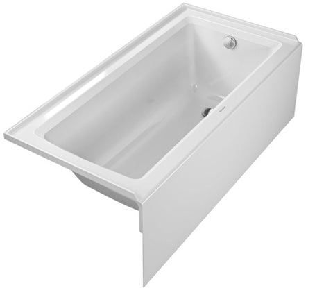 "Architec Bathtub, 19 1/4"" with Integrated Panel and Flange, Rectangle, Drain Right Placement, Duravit, 700355 - Showroom Sinks"